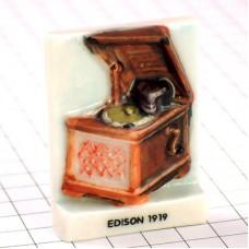 フェーブ・エジソン蓄音機アンティーク音楽音響機器
