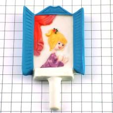 フェーブ・ペイネ画あかい髪飾りの女の子