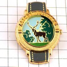 ピンズ・大きな角の鹿の腕時計