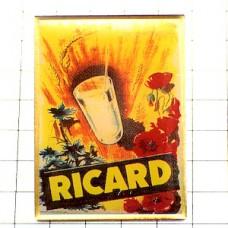 ピンズ・リカールお酒レトロ広告パスティス一杯