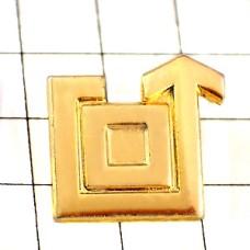 ピンズ・金色の矢印ゴールド四角