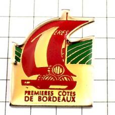 ピンズ・ボルドーワイン酒樽ボート帆船