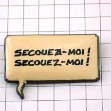ピンバッジ・フランス語セリフ台詞ふきだしオランジーナ振って振って!