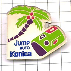 ピンズ・コニカ写真カメラとやしの木