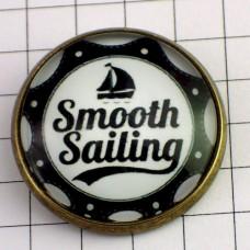ピンバッジ・New!スムーズなセイリング帆船ボート波ヨット