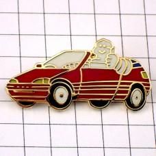 ピンズ・赤い車に乗るビバンダムくんミシュラン社