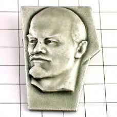 ブローチ・レーニン肖像ソ連ロシア語