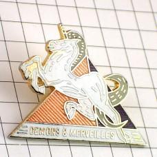 ピンバッジ・一角獣ユニコーン角のある馬