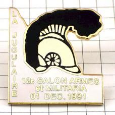 ピンズ・軍帽ヘルメット飾り付きミリタリーフランス軍