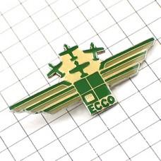 ピンバッジ・緑の飛行機4機