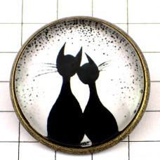 ピンズ・New!クロネコ黒猫シルエット2匹カップル