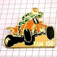 ピンバッジ・ヤマハのカート車レースYAM100