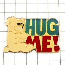 ピンバッジ・抱きしめて!白熊
