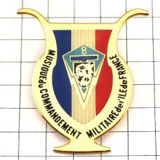 ピンズ・竪琴ミリタリー国旗柄フランス軍