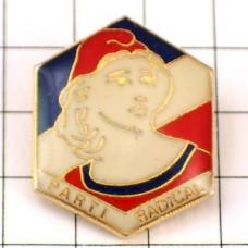 ピンバッジ・アリアンヌ自由の女神トリコロール国旗色フランス青白赤