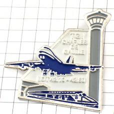 ピンバッジ・飛行機シャルルドゴール空港TGV新幹線
