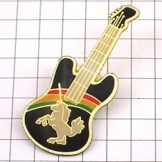 ピンズ・馬ユニコーン一角獣ギター楽器と虹