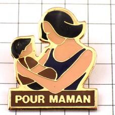 ピンバッジ・赤ちゃんママのために母子