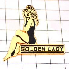 ピンズ・金色ゴールデンレイディ女の子