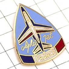 ピンバッジ・トリコロール飛行機アルファジェット戦闘機