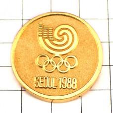 ピンバッジ・韓国ソウル五輪ゴールド金色