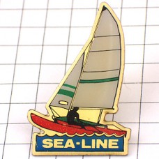 ピンバッジ・ヨット帆船ボート海
