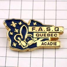 ピンバッジ・百合の紋章ケベック州カナダ国