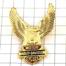 ピンズ・ハーレーダビッドソン鷲バイク二輪イーグル金色