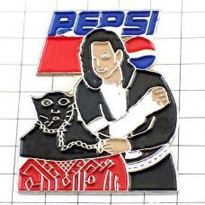 ピンズ・マイケルジャクソンと黒豹ペプシ飲物