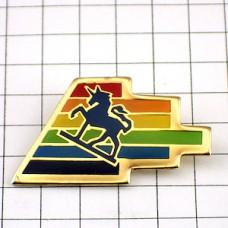 ピンズ・馬ユニコーン一角獣カラフル虹色