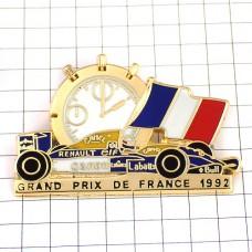 ピンズ・フランス国旗F1グランプリ時計ルノー車