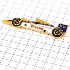 ピンバッジ・ホンダF1レース車キャノンとモービル石油