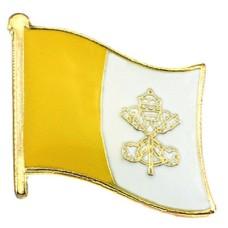 ピンズ・New!バチカン市国の国旗デラックス薄型キャッチ付き