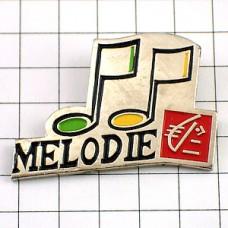 ピンバッジ・♪音符メロディ音楽リス銀行