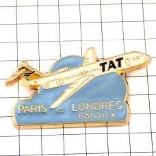 ピンバッジ・タット航空パリとロンドン間