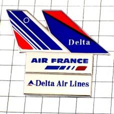 ピンバッジ・エールフランス航空デルタ飛行機の尾翼