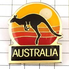 ブローチ・オーストラリアのカンガルー夕陽