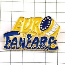 ピンズ・ファンファーレ音楽マーチングバンド太鼓ユーロ旗の星EU欧州連合