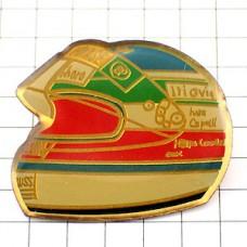 ピンバッジ・F1イバンカペリ車レース仕様ヘルメット一個