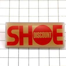 ピンバッジ・ディスカウントの靴