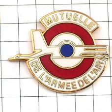 ピンバッジ・飛行機フランス空軍ミリタリー円形章