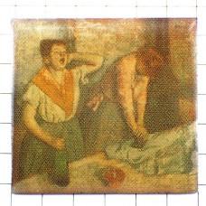 ピンバッジ・ドガ画『アイロンをかける2人の女』