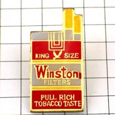 ピンバッジ・ウインストン煙草の箱