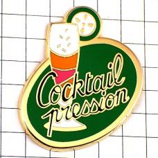 ピンバッジ・カクテルお酒一杯