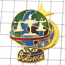 ピンバッジ・三日月と星と星占い天秤座てんびん座
