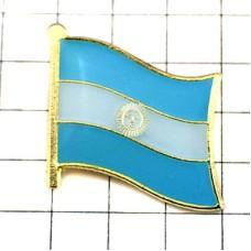 ピンズ・New!アルゼンチン国旗まんなかに太陽デラックス薄型キャッチ付き
