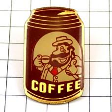 ピンズ・コーヒーを飲む親父印の缶コーヒー珈琲