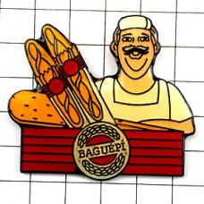 ピンバッジ・パン屋さんとバゲット2本