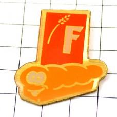 ピンバッジ・食パン一本Fフランシーヌ小麦粉