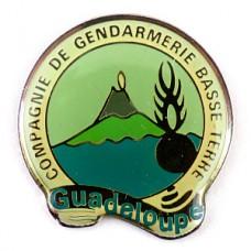 ピンバッジ・火山グアドループ島ジャンダルムリ国家憲兵隊